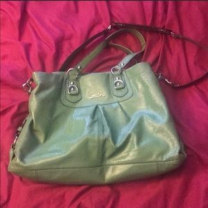 Lime green Coach bag.